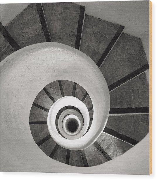 Santa Catalina Spiral Staircase Wood Print