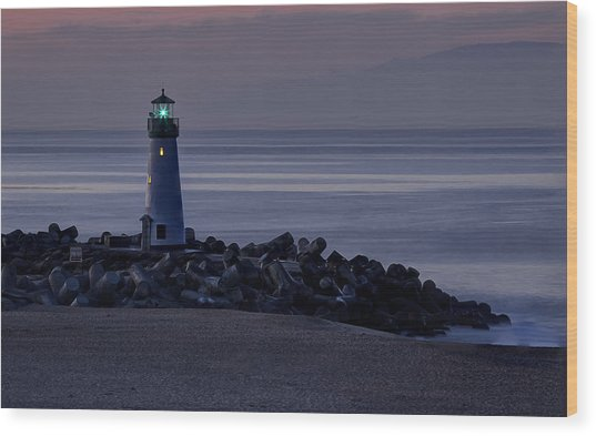 Walton Lighthouse Early Morning Wood Print