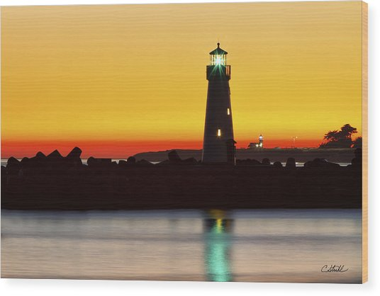 Santa Cruz Lighthouses Wood Print
