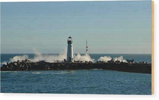 Santa Cruz Walton Lighthouse Wood Print