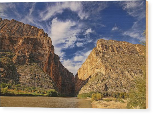 Santa Elena Canyon 3 Wood Print