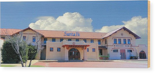 Santa Fe Depot In Amarillo Texas Wood Print