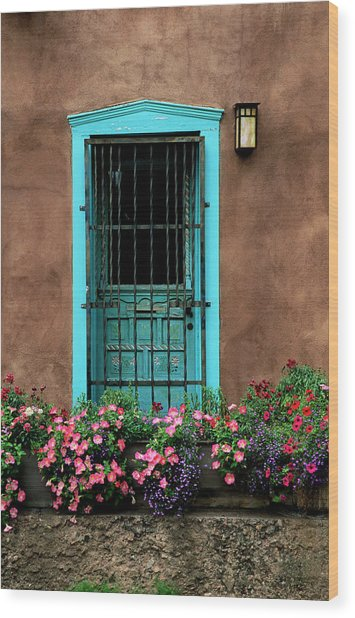 Santa Fe Door #1 Wood Print
