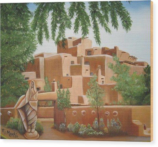 Santa Fe Garden Wood Print
