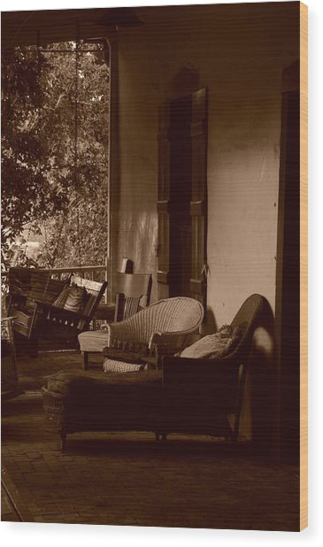 Santa Fe Porch Wood Print
