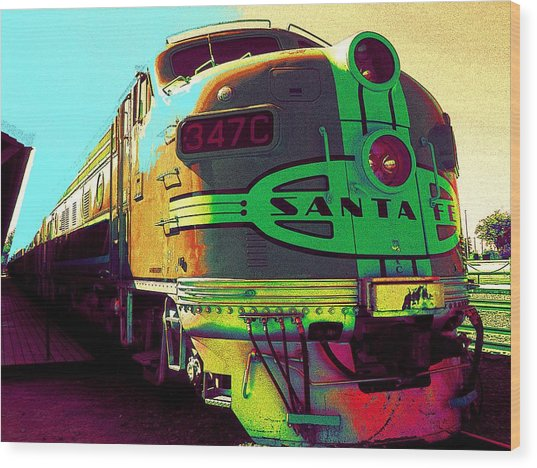 Santa Fe Railroad New Mexico Wood Print