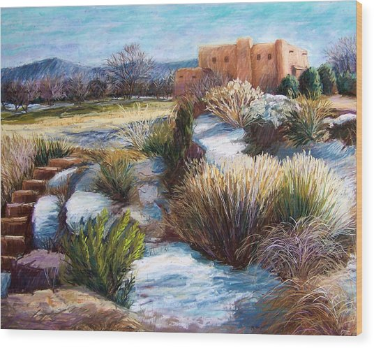 Santa Fe Spring Wood Print by Candy Mayer
