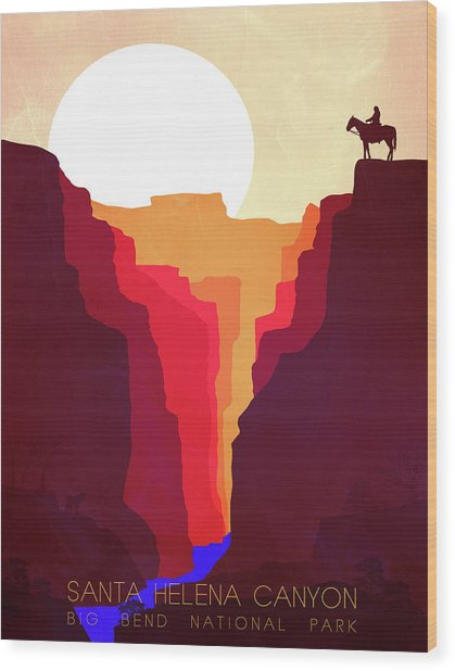 Santa Helena Canyon 1  Wood Print