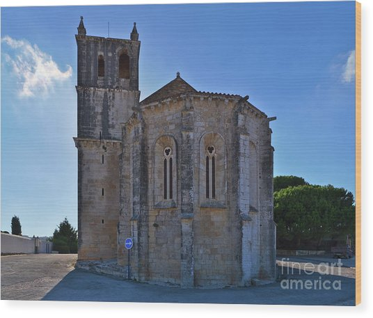 Santa Maria Do Carmo Church In Lourinha. Portugal Wood Print