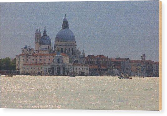 Wood Print featuring the digital art Santa Maria Venice by Julian Perry