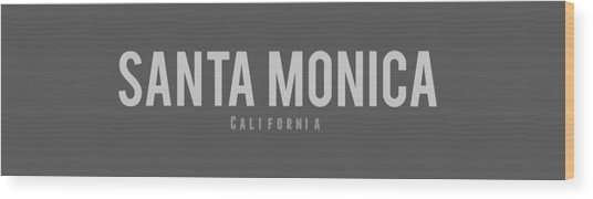 Santa Monica California Wood Print