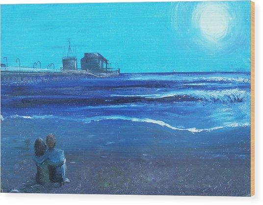 Santa Monica Pier Wood Print