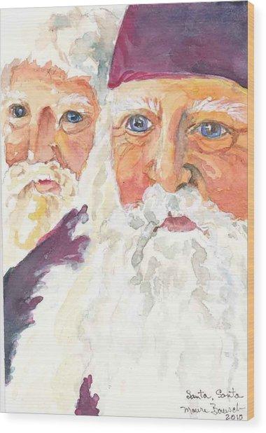 Santa Santa Wood Print