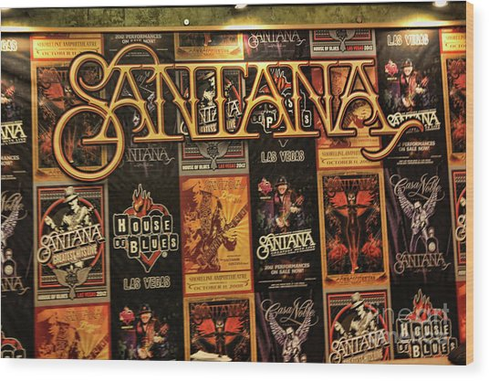 Santana House Of Blues Wood Print