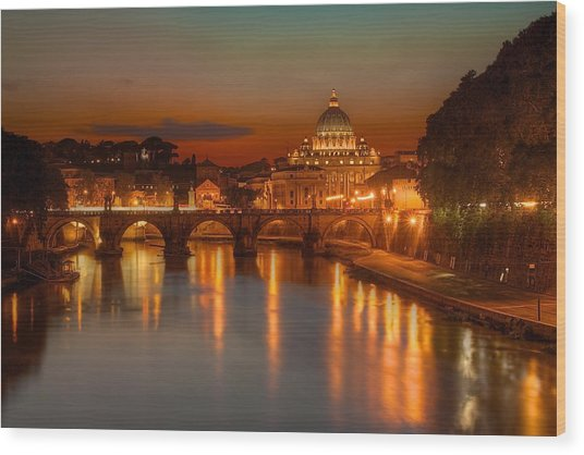 Sant'angelo Bridge Wood Print