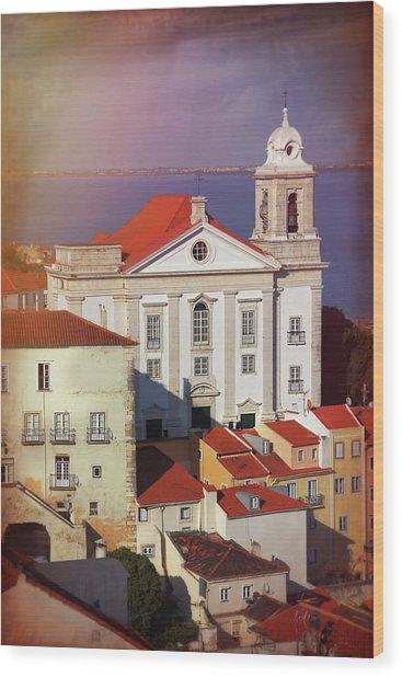 Santo Estevao Church Lisbon Portugal  Wood Print
