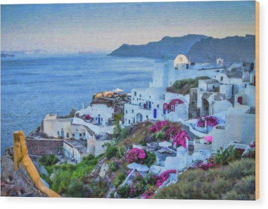 Santorini Greece Dwp416136  Wood Print