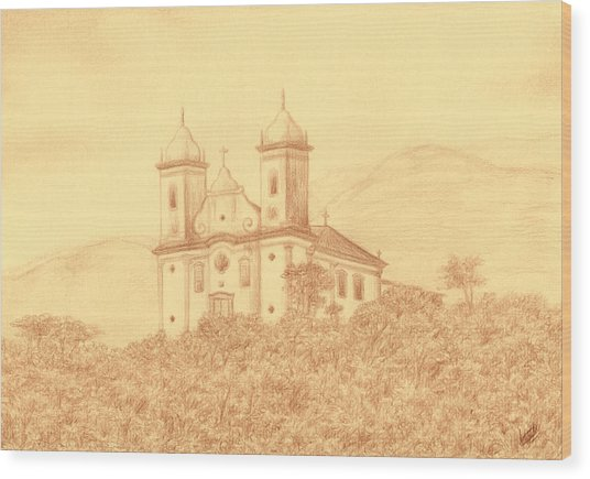 Sao Francisco De Paula Church Wood Print by Enaile D Siffert