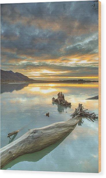 Saphire Wood Print