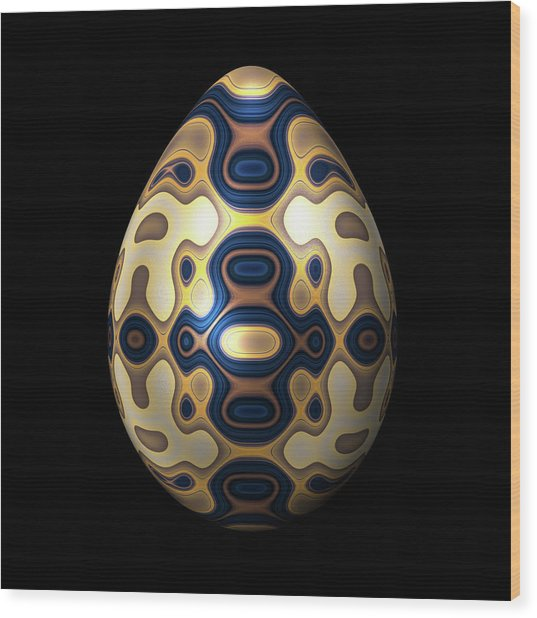 Sapphire And Gold Imperial Easter Egg Wood Print