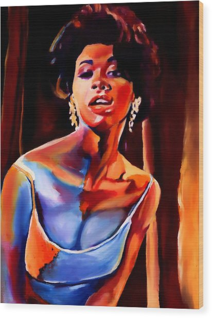 Sarah Vaughan Wood Print by Vel Verrept