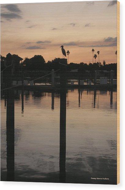 Sarasota Sunset1 Wood Print