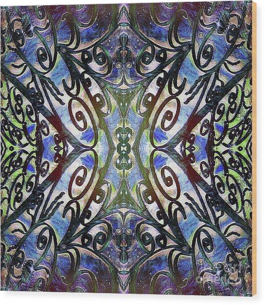 Sarasota Swirls Wood Print