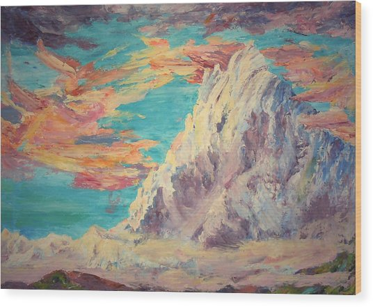 Sarcantay Mountain The Untamed One Cusco Peru Wood Print