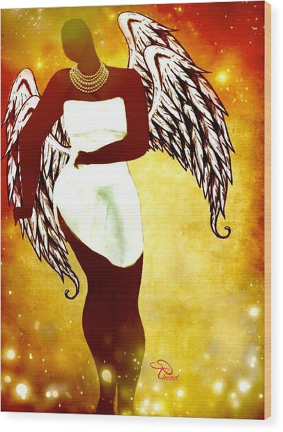 Sassy Angel Wood Print