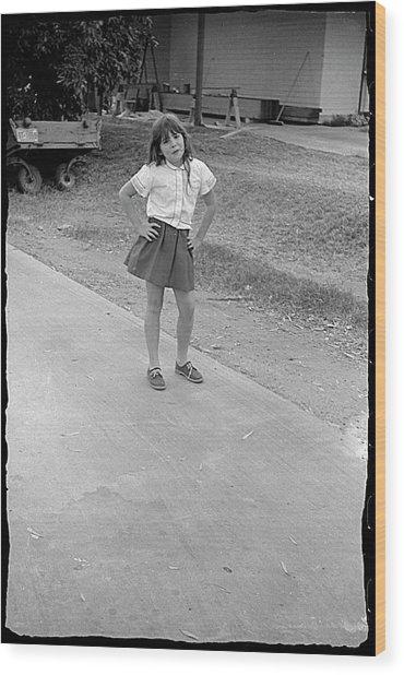 Sassy Girl, 1971 Wood Print