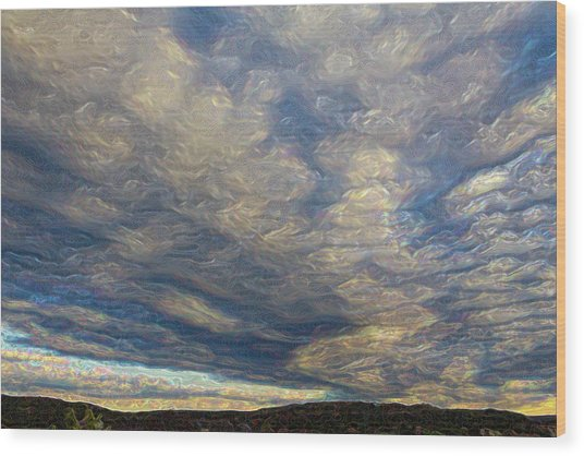 Satin Sky No. 1 Wood Print