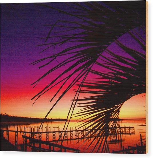 Saturated Sunrise Wood Print by Nicole I Hamilton