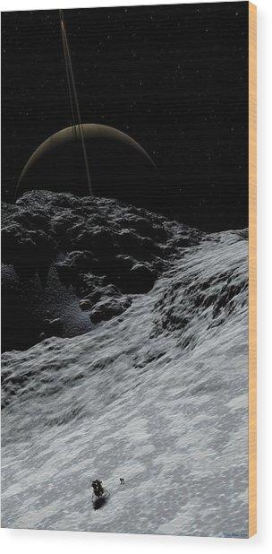 Saturn From Prometheus Wood Print