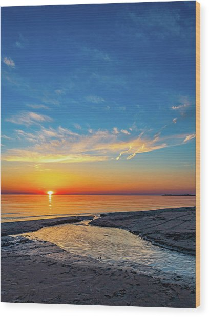 Sauble Beach Sunset 5 Wood Print