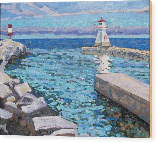 Saugeen Range Light Wood Print