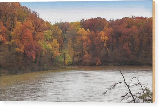 Sauk Lake Autumn Wood Print