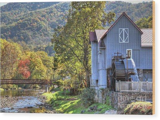 Saunooke Mill Wood Print