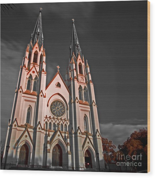 Savanna Georia Church Color Infrared 74 Wood Print by Rolf Bertram