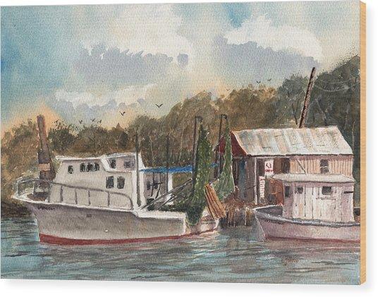 Savannah Bait - Coastal Watercolor Wood Print