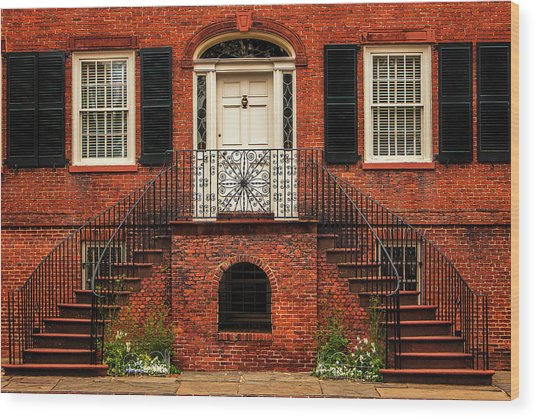 Savannah Facade Wood Print