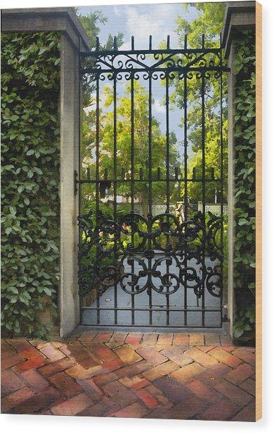 Savannah Gate II Wood Print