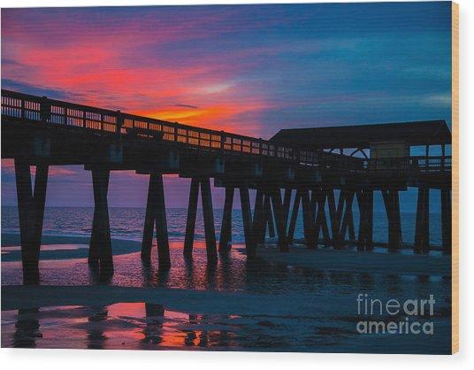 Savannah Sunrise Wood Print