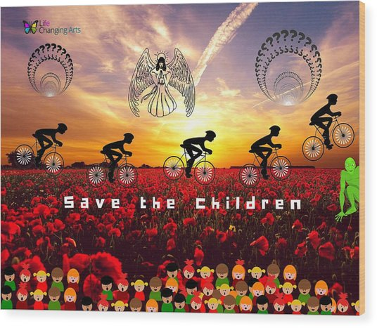 Save The Children Wood Print