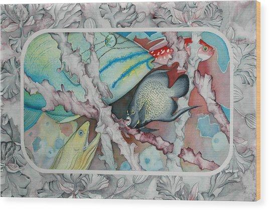 Saving The Reefs II Wood Print by Liduine Bekman