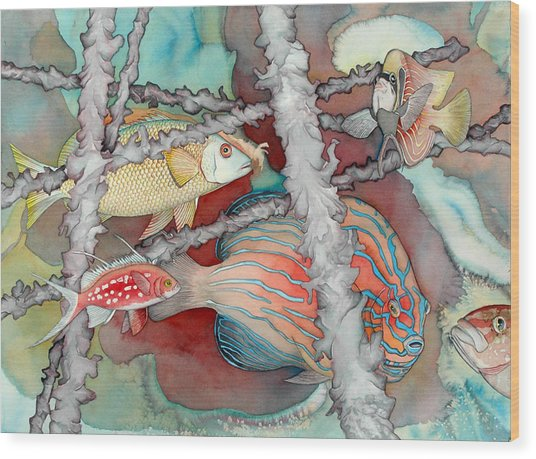 Saving The Reefs Wood Print by Liduine Bekman