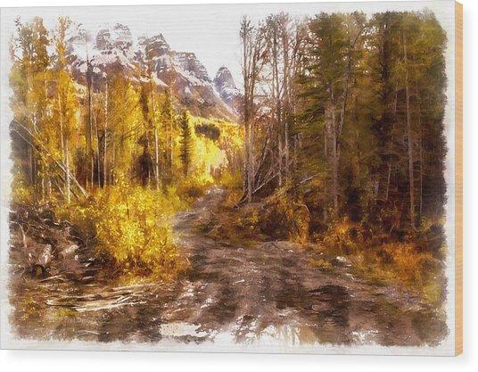 Sawmill Road Wood Print