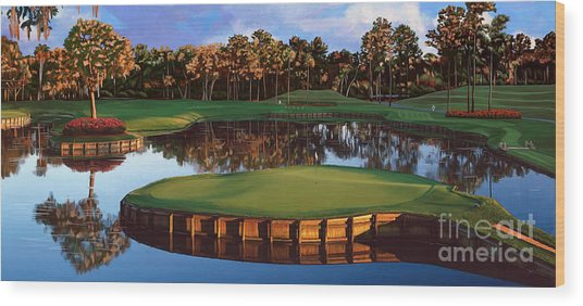 Sawgrass 17th Hole Hol Wood Print
