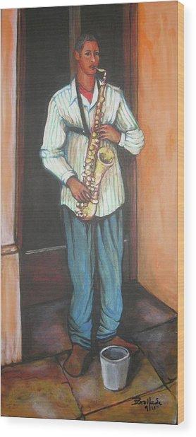 Saxophone 1 Wood Print