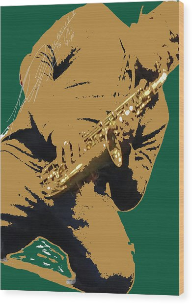 Saxual Passion Wood Print