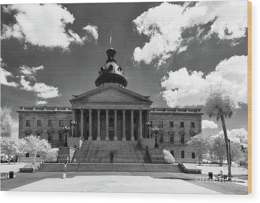 Sc State House - Ir Wood Print